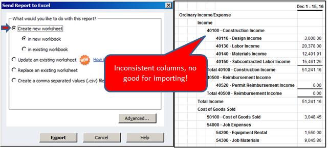 5QuickBooks - xls inconsistent columns